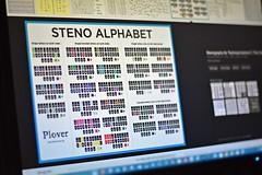 Steno Alphabet (Stenotype) (Jo Zimny) Tags: flickrbingo4 stenography wk55 n42 stenotype alphabet screenshot machine shorthand