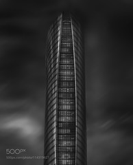 Qatar Gas Tower (tycampbe) Tags: ifttt 500px architecture abstract building skyscraper commercial gulf fine art capital oil business wealth corniche west bay arabia black white skyline qatar doha towers gas tower