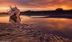 Meols Beach (3 of 7) (andyyoung37) Tags: beech meolsbeech merseyside reflections silhouette sea seaside sky sunrise thewirral