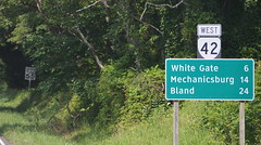 24 miles to Bland (afagen) Tags: virginia pearisburg sign whitegate mechanicsburg bland