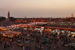 Morocco Marrakech Street Markets (Avril Espinosa-Malpica) Tags: morocco travelling northafrica hot explore market souk street shopping architecture building tower city
