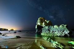Again (iCalamonte) Tags: algarve portugal valctea milkyway estrellas stars noche nocturna night playa praia sanrafael nightscape exposicin largaexposicin long exposure landscape nikon d610 samyang ngc