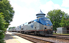 Journey is Almost at its End (craigsanders429) Tags: amtrak amtraktrains amtraksuperliners amtrakinillinois riversideillinois bnsfracewayinchicago bnsfchicagoraceway chicagorailroads tracks railroadtracks p42dc amtrakp42locomotives amtrakp42dc amtrakp42dcno195 passengertrains passengercars