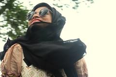 Humaira (ainulislam) Tags: portrait woman girl lady beauty beautiful natural 50mm prime people style fashion hijab lights muslim indoor studio smile smiley dhaka desi pink white backgroud