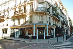 Paris (itsyagirllena) Tags: paris travel film analog nikon nikonf310 city europe light amour street houses pretty boulangerie