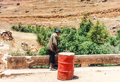 Shephard of Kawkaba (Normann Photography) Tags: 1992 elhasbani fntjeneste forsvaret hasbaniriver kawkaba kontigent29 lebanon libanon peacecorps unservice unifil unitednations unitednationsinterimforceinlebanon barrel market peacekeepers shepherd nabatiyehgovernorate lb