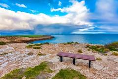 Loneliness (Sougata2013) Tags: troubridgehill yorkepeninsula southaustralia australia loneliness chair solitude nikon nikond7200 landscape nature clouds sky evening sunset