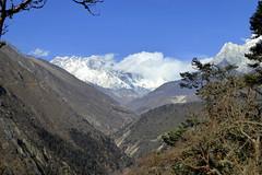 Aussicht in Tengboche (Alfesto) Tags: nepal trekking wanderung himalaya namche khumbuarea sagarmathanationalpark tengboche mteverest mounteverest lhotse