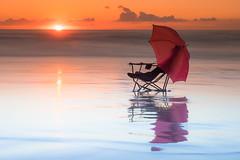 Relax (alimoche67) Tags: josejurado sony alpha a7 amanecer playa costa vallcarca barcelona espaa paraguas silla