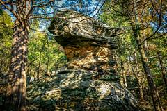 Anvil Rock (sadlersr) Tags: gardenofthegods shawneenationalforest fall2016 nature outdoors trees rocks geology sky lightroom