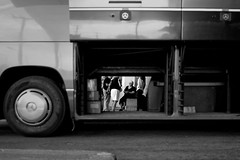 Through the belly of the beast (Tilemachos Papadopoulos) Tags: qoq frameinaframe bus terminal urban fujinon fujifilm fuji infrastracture mono monochrome people athens street greece xt10 candid blackandwhite bw mirrorless