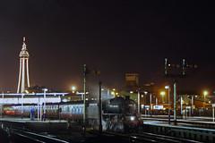 Blackpool pegs and five (Nigel Gresley) Tags: blackpool black 5 44996 semaphores illimuniations tower