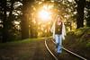 naomi161015-008 (Naomi Creek) Tags: 52picturesofme selfportrait selfdiscovery train track trees forest denim jeans shawl crochet 70s sunrise morning light portraiture portrait girl woman golden walking emotional hippie boho hippy