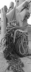 Tangled web (Camperman64) Tags: withernsea holderness eastyorkshire coast groynes ropes tangled bolts smooth worn waves beach