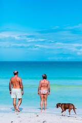 Tourists (Luis Montemayor) Tags: tourists beach playa turistas dog perro sea ocean mar horizont clouds nubes sky cielo waves olas sand arena holbox mexico