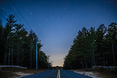 Empty Road (Evan's Life Through The Lens) Tags: camera sony a7s lens glass 50mm f18 long exposure digital beautiful vibrant color blue purple orange light dark night stars state forest plymouth amazing adventure explore friends femur recovery 2016