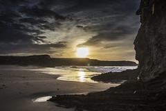 Septiembre en la playa v3 - Miedo (ponzoosa) Tags: playa 2016 beach sand water ocean arena sea atlantic cantbrico sunset cloud