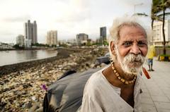 Man of Mumbai (Anna Toft) Tags: portrait man india indian mumbai character waterfront shore city slum travel