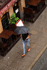 From Above (josephzohn | flickr) Tags: fromabove uppifrn mnniskor people umbrella paraply regn rain