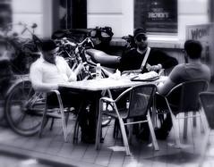 _WoW....:-) (SpitMcGee) Tags: hmbt bokeh blackwhite mnner men mittagessen lunch fastfood cool macho einmanndersichbertriebenmnnlichverhlt maastricht limburg netherland niederlande holland spitmcgee
