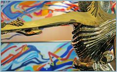 """Femme  la tte de rose"" De Salvador  Dali, une exposition  Lige Guillemins, Lige, Belgium (claude lina) Tags: claudelina belgium belgique provincedelige lige exposition garedesguillemins dali desalvadordali oeuvres art sculpture femmelattederose"
