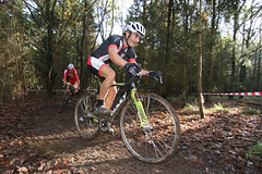 In the woods, senior race (Biker Jun) Tags: england unitedkingdom oxford cyclocross 2014 harcourthill canon7dmarkii