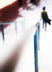 Walk like you (Mister Blur) Tags: blur silhouette stairs project 50mm james nikon dof you bokeh walk like sanmigueldeallende handrail highkey nikkor 18 d7100