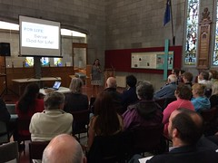 Georgette speaking at Christ Church Cathedral, Nelson, NZ