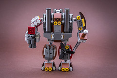 Rusty suit (Milan Sekiz) Tags: robot fighter lego steam suit cannon sword mecha