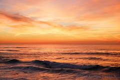 Seascape Sunset (Andrew Stelmach) Tags: ocean sunset sea portugal beautiful landscape europe surf waves colours vibrant stunning serene breakingwave breakingwaves