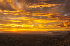 Borrego Badlands Just Before Sunrise (Bill Gracey) Tags: sky panorama color colors clouds sunrise landscape colorful photographer view desert photographers workshop anzaborregodesertstatepark anzaborregodesert pauljohnson borregobadlands fontspoint anzaborregofoundation