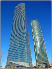 Madrid: Cuatro Torres Business Area (sky_hlv) Tags: madrid españa building tower skyscraper spain skyscrapers towers business ctba paseodelacastellana torredecristal torreespacio cuatrotorresbusinessarea cuatrotorres torrecajamadrid torrepwc