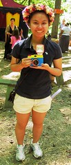 Photographers using film in the digital age, Maryland Renaissance Festival, 2012 (A CASUAL PHOTGRAPHER) Tags: portraits women festivals maryland cameras marylandrenaissancefestival garlands filmphotographers lomographycameras lomographyphotographers dianafcmyk