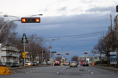 Dark Skys Ahead (caribb) Tags: street city autumn urban canada storm trafficlights fall weather clouds driving boulevard traffic montral quebec montreal ominous qubec rushhour morningcommute darkclouds 2014 stormcoming weatherfront ominousclouds montralnord montrealnorth c365