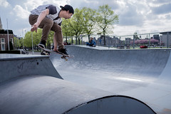 Amsterdam Skater (NicoCrown) Tags: amsterdam jump skating skater