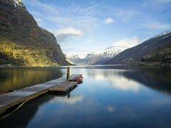 Looking to the Fjord (jp3g) Tags: winter norway boat olympus fjord bergen flam omd em5