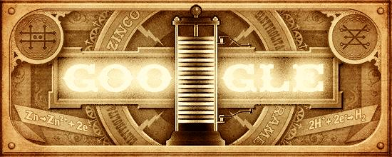 #Doodle do #Google de hoje: ALESSANDRO VOLTA's 270th Birthday http://ift.tt/1L5RBzG