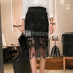 элегантный кисточкой женской выдалбливают крючок цветочные кружева юбки
