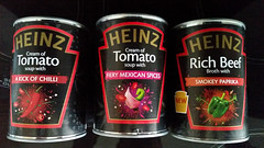 I Like It Spicey. (ManOfYorkshire) Tags: food black hot tomato lunch soup kick starter beef label smokey chilli paprika broth heinz spicey fiery tinned