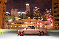 Broadway (BanillaBeast) Tags: color rooftop night truck buildings la angeles broadway wrap mopar rims viper dtla v10 usbank wcm lso westcoastcalimopars