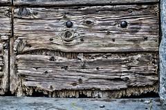 Rotten (Artico7) Tags: door wood italy detail texture wooden fuji steel grain rusty belltower nails rotten scraped ruined friuli xe1 muscletto
