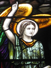 Detail of the Angel of the Lord in the David Ross Stained Glass Memorial Window featuring the Marys and the Angel of the Lord at Jesus' Tomb; St Kilda Presbyterian Church - Corner Barkley Street and Alma Road, St Kilda (raaen99) Tags: building window glass saint architecture angel religious 1930s memorial mary religion gothic wing victorian feathers australia melbourne stainedglass victoria victoriana bible virginmary 20thcentury 1886 stainedglasswindow stkilda biblical presbyterian 30s marymagdalene resurrection nineteenthcentury gothicarchitecture placeofworship 1880s gothicchurch davidross gospels gothicbuilding presbyterianchurch gothicstyle twentiethcentury almaroad ralphwilson melbournearchitecture theresurrection gothicrevivalarchitecture angelofthelord religiousbuilding gothicrevivalstyle navewindow bookofmatthew almard barkleyst malesaint gothicrevivalbuilding inmemorandum barkleystreet stkildachurch 20thcenturystainedglass architecturallydesigned gothicrevivalchurch boomperiod stkildapresbyterianchurch johnbeswicke gothicdetail memorialstainedglass twentiethcenturystainedglass mathiesongibson mathiesonandgibson davidrossmemorialwindow davidrossmemorialstainedglasswindow wilsonandbeswicke presbyterianchurchofstkilda wilsonbeswicke
