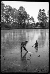 Ice capades (sterileeye) Tags: lake ice frozen junior ilford skates belfoca belca