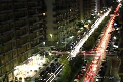 Il traffico della notte (Stefano Piazza) Tags: luci piazza palermo notte stefano traffico