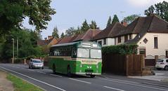 DB798.  AEC Reliance. (Ron Fisher) Tags: uk greatbritain england bus green pentax unitedkingdom transport gb publictransport farnborough reliance aec pentaxkx aecreliance aldershotdistrict farnboroughbusrunningday