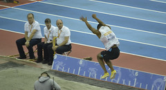 Birmingham Indoor Athletics 111 (Mount Fuji Man) Tags: birmingham grandprix seated longjump indoorathletics invisiblechair gregrutherford gaoxinglong