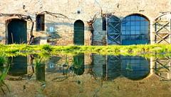 P1000071x (gzammarchi) Tags: casa italia natura campagna porta arco paesaggio sanmarco ravenna riflesso pianura cascina pozzanghera
