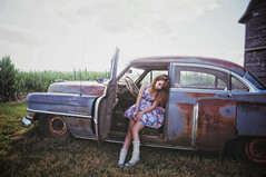 (yyellowbird) Tags: selfportrait girl car illinois cadillac lolita cari