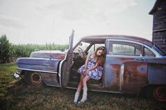 (yyellowbird) Tags: selfportrait girl car illinois cadillac lolita cari