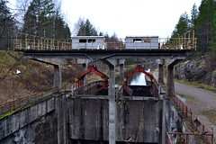A device for lifting floating log clusters (Kimola channel, Jaala, 20111113) (RainoL) Tags: november eh finland geotagged fin channel kouvola 2011 jaala kymenlaakso kimola 201111 20111113 geo:lat=6106983000 geo:lon=2627317100